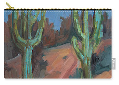 Carry-all Pouch featuring the painting Morning At Fort Apache by Diane McClary