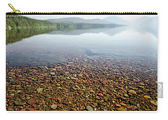 Carry-all Pouch featuring the photograph Morning At Lake Mcdonald by Margaret Pitcher