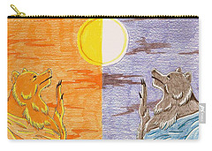 Morning Bear Greets The Sun, Evening Bear Greets The Moon Carry-all Pouch