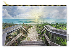 Carry-all Pouch featuring the photograph Morning Blues At The Dune by Debra and Dave Vanderlaan