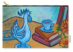 Carry-all Pouch featuring the painting Morning Coffee Rooster by Xueling Zou