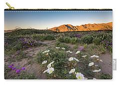 Morning Desert Evening Primrose Carry-all Pouch by Scott Cunningham