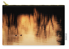 Carry-all Pouch featuring the photograph Morning Ducks 2017 by Bill Wakeley