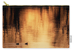 Carry-all Pouch featuring the photograph Morning Ducks 2017 Square by Bill Wakeley