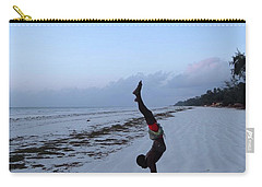 Morning Exercise On The Beach Carry-all Pouch