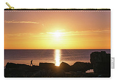 Carry-all Pouch featuring the photograph Morning Fishing by Dmytro Korol