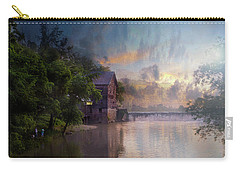 Carry-all Pouch featuring the photograph Morning Fishing  by Joel Witmeyer