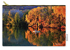 Morning Fishing On Lake Winona Carry-all Pouch