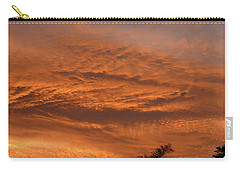 Carry-all Pouch featuring the photograph Morning Flame by Mark Blauhoefer
