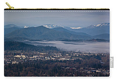 Morning Fog Over Grants Pass Carry-all Pouch by Mick Anderson