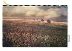 Carry-all Pouch featuring the photograph Morning Fog by Vladimir Kholostykh