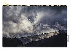 Morning Fog,mist And Cloud On The Moutain By The Sea In Californ Carry-all Pouch by Jingjits Photography