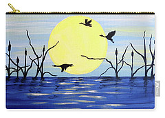Carry-all Pouch featuring the painting Morning Geese by Teresa Wing