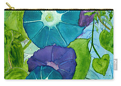 Morning Glories In Watercolor On Yupo Carry-all Pouch