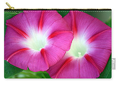 Carry-all Pouch featuring the photograph Morning Glories by Sheila Brown