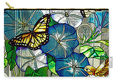 Morning Glory Carry-all Pouch by Diane E Berry