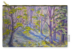 Morning Glory Carry-all Pouch by Genevieve Brown