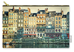 Morning Honfleur Buildings Carry-all Pouch by Linda Olsen