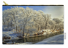 Morning Icing Along The Creek Carry-all Pouch by Bruce Morrison