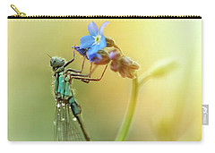 Morning Impression With Blue Dragonfly Carry-all Pouch