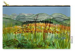 Carry-all Pouch featuring the painting Morning In Backyard At Barton by Donna Walsh