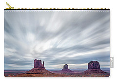 Carry-all Pouch featuring the photograph Morning In Monument Valley by Jon Glaser