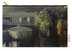 Carry-all Pouch featuring the painting Morning In Nikolo's Kitchen by Sandra Strohschein