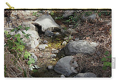 Carry-all Pouch featuring the photograph Morning Light At Strawberry Creek by Suzanne Oesterling