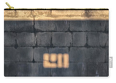 Morning Light On An East Facing Cinder Block Wall Carry-all Pouch by Stan  Magnan
