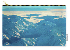 Carry-all Pouch featuring the photograph Morning Light On The Southern Alps by Steve Taylor