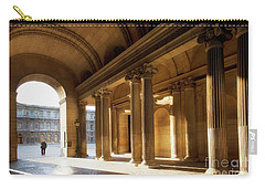 Carry-all Pouch featuring the photograph Morning Lights At The Louvre Museum by Ivy Ho