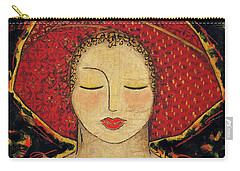 Carry-all Pouch featuring the mixed media Morning Meditation by Gloria Rothrock