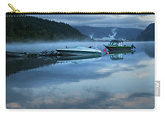 Carry-all Pouch featuring the photograph Morning Mist Adams Lake by Theresa Tahara