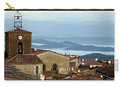 Carry-all Pouch featuring the photograph Morning Mist In Provence by Lainie Wrightson