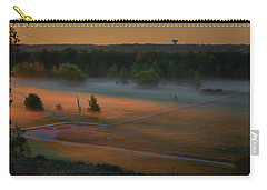Carry-all Pouch featuring the photograph Morning Mist Over Dyarna #h7 by Leif Sohlman