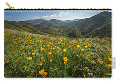 Morning Poppy Hillside Carry-all Pouch