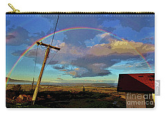 Morning Rainbow Over Kalaupapa Carry-all Pouch by Craig Wood