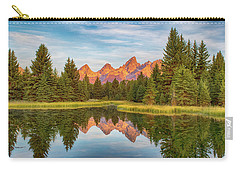 Carry-all Pouch featuring the photograph Morning Reflections by Mary Hone