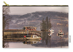 Morning Reflections Of Loch Ness Carry-all Pouch by Ian Middleton
