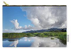 Carry-all Pouch featuring the photograph Morning Reflections On A Marsh Pond by Greg Nyquist