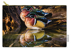 Morning Reflections - Wood Ducks Carry-all Pouch