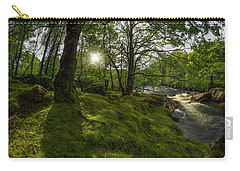 Morning River Sun Carry-all Pouch by Ian Mitchell