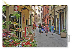 Carry-all Pouch featuring the photograph Morning Shoppers by Lynda Lehmann