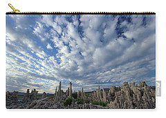 Carry-all Pouch featuring the photograph Morning Skies Over Tufa by Sean Sarsfield