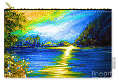 Morning Sunrise 9.6 Carry-all Pouch by Oksana Semenchenko