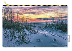 Carry-all Pouch featuring the photograph Morning Sunrise At The Beach by John McGraw