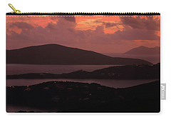 Carry-all Pouch featuring the photograph Morning Sunrise From St. Thomas In The U.s. Virgin Islands by Jetson Nguyen