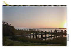 Carry-all Pouch featuring the photograph Morning Sunrise Over Assateaque Island by Donald C Morgan