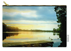 Morning Twilight Lakeside Carry-all Pouch by Barry Jones