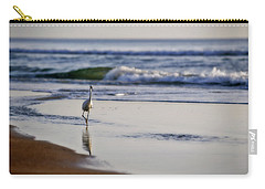 Carry-all Pouch featuring the photograph Morning Walk At Ormond Beach by Steven Sparks